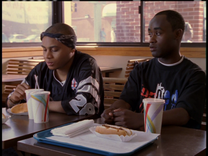 Poot et Bodie au fast-food avec Wallace (hors champ) (s01e12, Cleaning up)